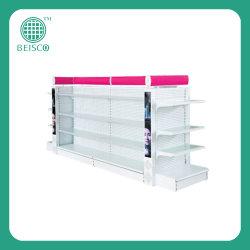 Plank van de Vertoning van de supermarkt de Kosmetische met de Plaat van het Glas