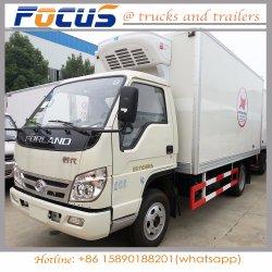 Китай 4 тонн дизельного двигателя Isuzu охлажденных погрузчика на мясо рыба молоко транспорта