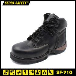 Escenas de acción de Goodyear Welted de cuero Zapatos de seguridad