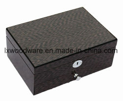 Finition Piano nouvellement en bois de placage de bois d'emballage de stockage de bijoux boîte cadeau/cas