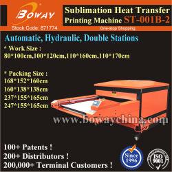 Большой формат 110X170см 2 станций Сублимация промышленных футболка с гидравлической системы автоматической печати