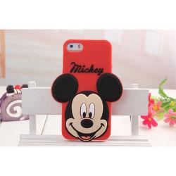 Siliconen 3D-telefoonhoes van zacht rood kartoon voor iPhone 4G/5g