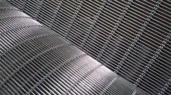 Malla de alambre arquitectónicos y decorativos fachadas--Tec-Sieve Multi-Barrette tejido/Sistema de malla de cable