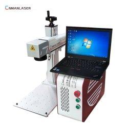 20W Mini máquina de marcação a laser de fibra de carbono metálicas de aço Phone