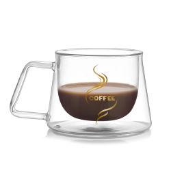 tazza di caffè doppia della tazza di vetro 200ml