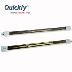 415V 2500W 15 Tubo duplo*33mm reflector de ouro de ondas médias emissor infravermelho Heidelberg máquinas de impressão