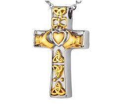Commerce de gros Sur mesure Personnalisée en acier inoxydable de souvenirs peut ouvrir l'amour Cross Pet à la crémation Necklace Cendres Cendres funéraires gravés boîte à bijoux Poignée de commande