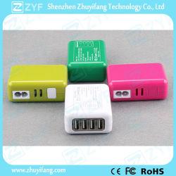 Multi couleur bouchon remplaçables par l'adaptateur de voyage avec port USB (ZYF9016)