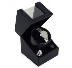 Bobinier en bois automatique de montre de peinture à haute brillance noire