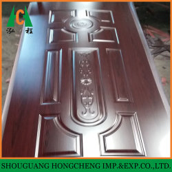 جلد الباب عالي اللمعان من مواد HDF، مقاس 2,7 مم إلى 4,0 مم من الميلامين للأبواب الداخلية