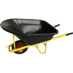 Roda de balde plástico de baixo preço Barrow para jardim