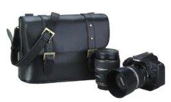 Imperméable à la mode vintage PU Appareil photo reflex numérique en cuir sac sac messager de l'épaule