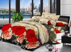 침대 시트 직물 폴리에스테를 위한 100%년 폴리에스테 침대 시트 직물에 의하여 인쇄되는 직물