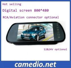 Ecrã LCD TFT de 7 Retrovisor da vista traseira do carro de Backup do Monitor de visor de espelho