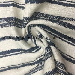 Lino 52%48%de la banda de tejido de viscosa de tela impresa de la moda Primavera Verano el desgaste