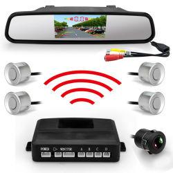 2.4G Sensor de Estacionamento sem fio com câmara de marcha a ré e visor de espelho retrovisor LED