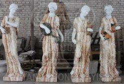 세일 중 화려한 색상의 대리석 Jade Stone, 정원 장식에 사용된 사계절 신 조각상