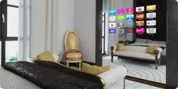 Yashi 65 Zoll an der Wand befestigter wasserdichter LCD-magischer Spiegel Fernsehapparat