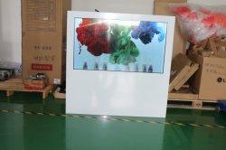 Vetrina trasparente con lo schermo di tocco