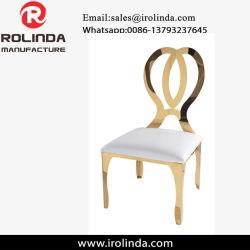 의자를 식사하는 나비 디자인 금 스테인리스 연회