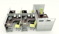 Melamine Manager Desk(HF-YZ0103)가 있는 개방형 선형 오피스 워크스테이션