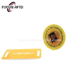 Mini-carte RFID en plastique avec poinçon de trou pour le contrôle des accès carte RFID