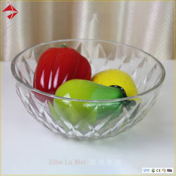 厚板ガラスキャンデーボールが付いているカスタム環境に優しいガラスサラダボール