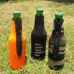 Neopren isolierte Bier-Getränkegetränk-Flaschen-Hülsen-Klage Koozie Kühlvorrichtung (BC0085)