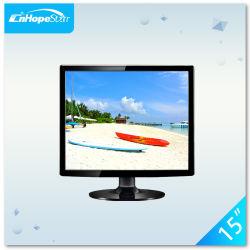 Hot vendre 4 : 3 Square de l'écran moniteur LCD 15 pouces