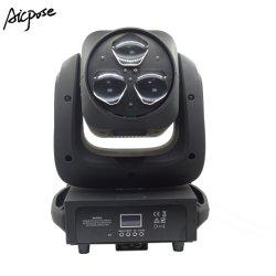 高い明るさ3PCS 4in1 RGBW 40W LEDのズームレンズの蜂の目の洗浄移動ヘッドライト