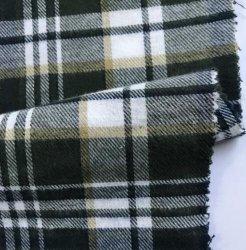 100 de la fábrica de hilados de algodón teñido de franela tejida verificar Twill Shirt Tela y forro para las prendas de vestir
