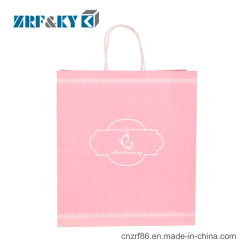 Custom logo imprimé lovely rose sac cadeau de mariage de papier kraft