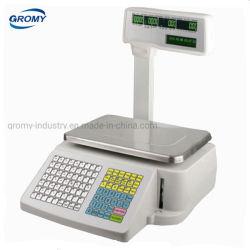 وزن ملصق الطباعة طباعة الرمز الشريطي طباعة 30 كجم بالقطب