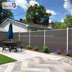 Traliccio composito di legno della decorazione del giardino che recinta con l'alberino di alluminio
