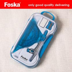 Foska 12cm estudiante de escuela de buena calidad conjunto de la brújula con reglas