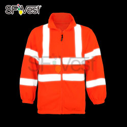 La sécurité Hoodie Sweat-shirt Hi Viz Reflective Work Wear veste chaude