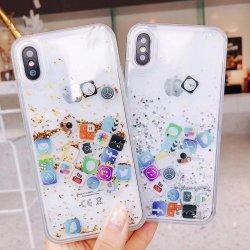 De vloeistof schittert Mobiele iPhone van het Geval van de Telefoon 6/7/8 Slim Geval van de Telefoon