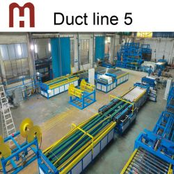 1250 mm Duct Line 5 tdf productielijn voor automatische kanalen Met Folding Pittsburgh Lock
