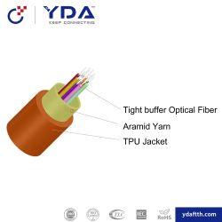 屋内デュプレックス平らなファイバーの光ケーブル(GJFJBV)