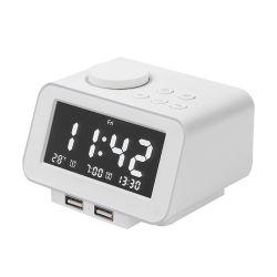 Lcd-Schreibtisch-Digital-Kopfende-Alarmuhr mit USB-Telefon-Aufladeeinheit