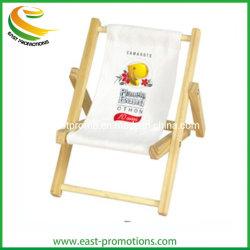 Chaise de plage en bois de gros personnalisée forme porte-téléphone portable Support pour téléphone