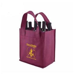 6 бутылочек Custom печать не из вина Bag Wirh ручки