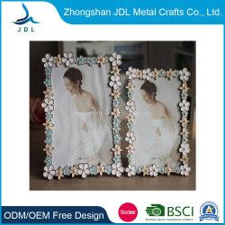 El marco de fotos de moda con perlas y flores más populares de venta al por mayor Crystal el marco de fotos de Boda Regalo de Navidad (39)