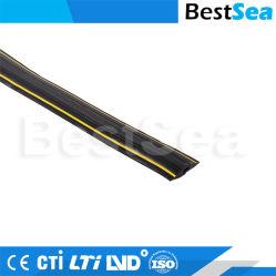 Retardateur de flamme de gros de conduits de câble PVC de systèmes de conduits de câblage électrique décoratif, Protecteur de câble veste jaune