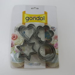 Acero inoxidable hermosa Cookie Cutter Set