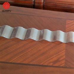 UV PC 천장을%s 물결 모양 투명한 폴리탄산염 장