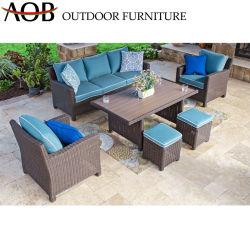 Китайский плетеную мебель плетеная стулья для отдыха на открытом воздухе для приготовления чая и Таблица сад балкон патио мебель диван