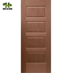 HDF Piel de la puerta de chapa de madera moldeada por la ceniza de madera de teca//Sapeli/Oak