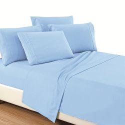 Normallack-Stickerei Microfiber Bett-Blatt 100%