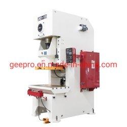 Stock C Frame 100t 200ton Power Stamping Hole Punching Press مع قالب الحز